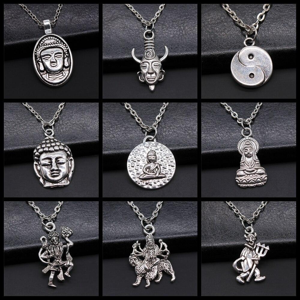 Buddhistischen Buddha Anhänger Halskette Chinesischen Taoismus Tai Chi Yin Yang Anhänger Neckalce Geschenk Für Frauen Männer Religion Schmuck