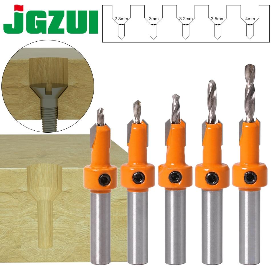 1 vnt. 8 mm koto HSS medienos frezavimo frezos antgalių rinkinys varžtų ištraukėjas medienos frezai