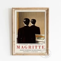 rene magritte surrealism exhibition museum retro poster not to be reproduced canvas painting gallery wall picture home decor