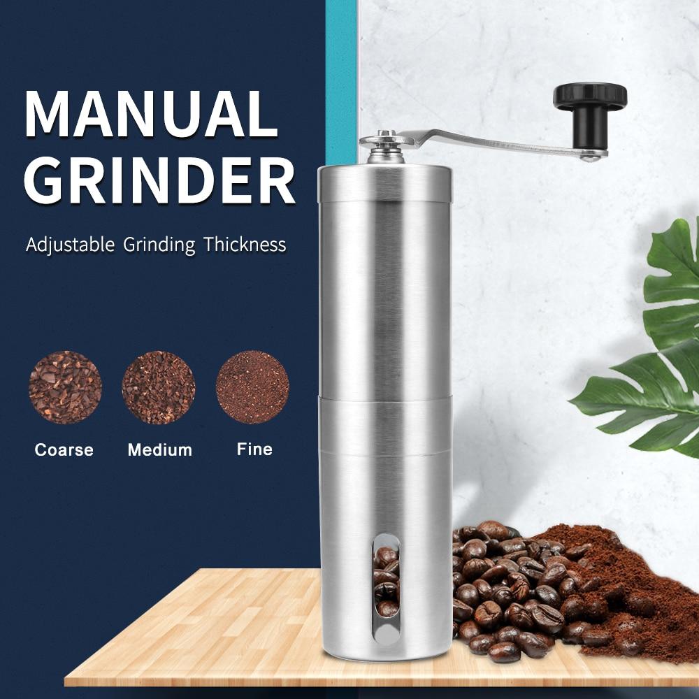 aliexpress.com - Silver Coffee Grinder Mini Stainless Steel Hand Manual Handmade Coffee Bean Burr Grinders Mill Kitchen Tool Grinders
