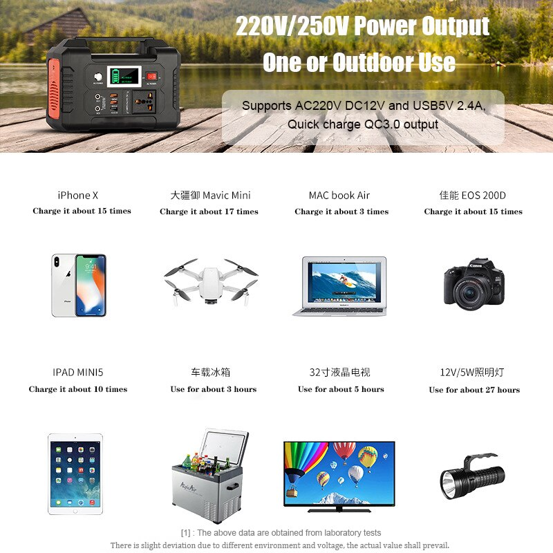 200-240V 200W Solar Generator Battery Charger FlashFish 40800mAh Portable Solar Power Station Outdoor Energy Power Supply 151wh enlarge