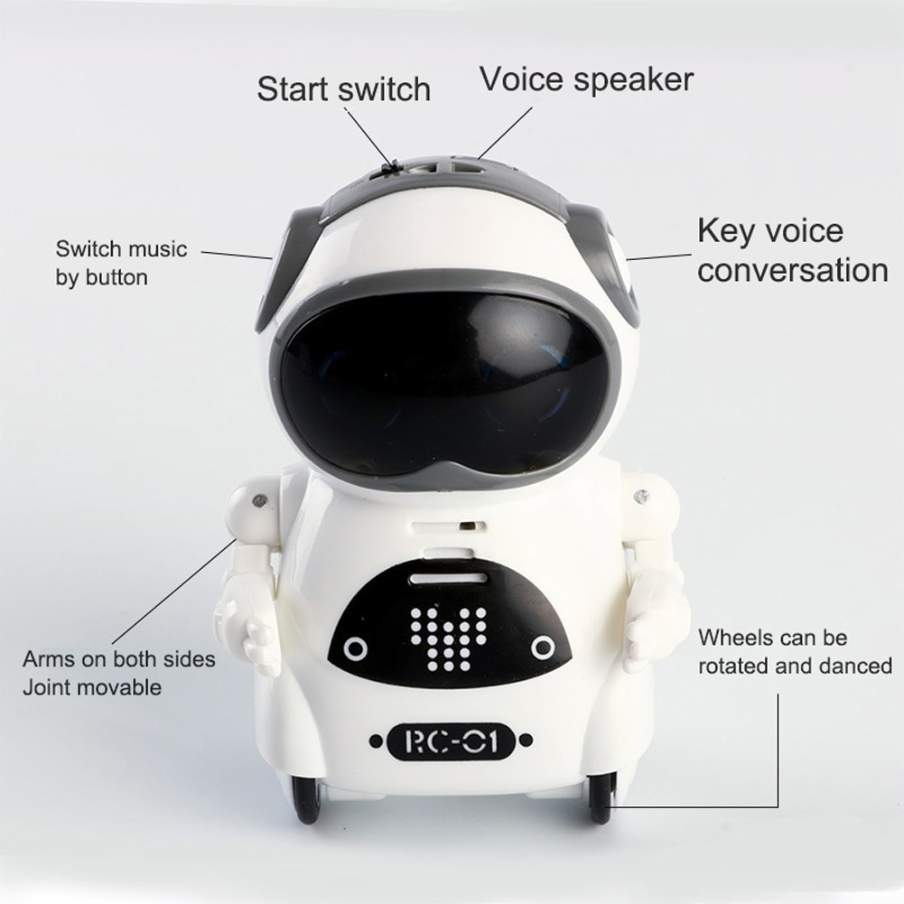 Mini Smart Robot Interactive Talking Voice Recognition Record Singing Dancing Telling Story Robot Model Toy Gift For Kids enlarge
