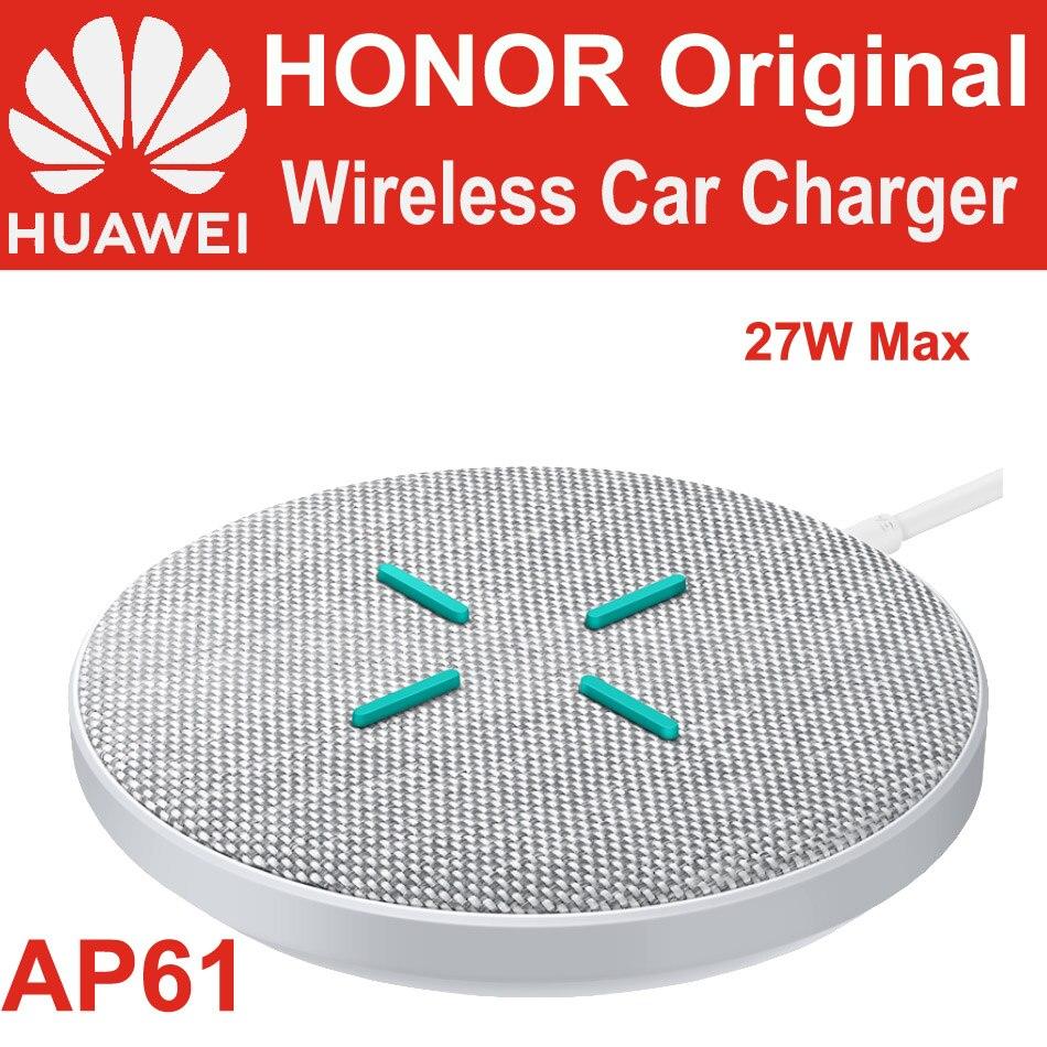 HUAWEI HONOR sobrecargar cargador inalámbrico 27W AP61 CP61 Qi estándar TÜV para P40 Pro Mate 30 Pro V30 Pro 5G iPhone Samsung Mi