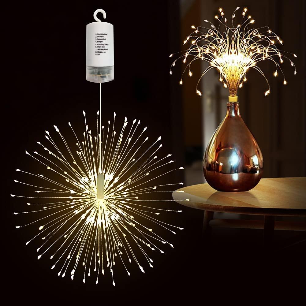 Светодиодные фейерверки PheiLa, уличные фонари с питанием от USB или аккумулятора, рождественское и Новогоднее украшение для газона, сада