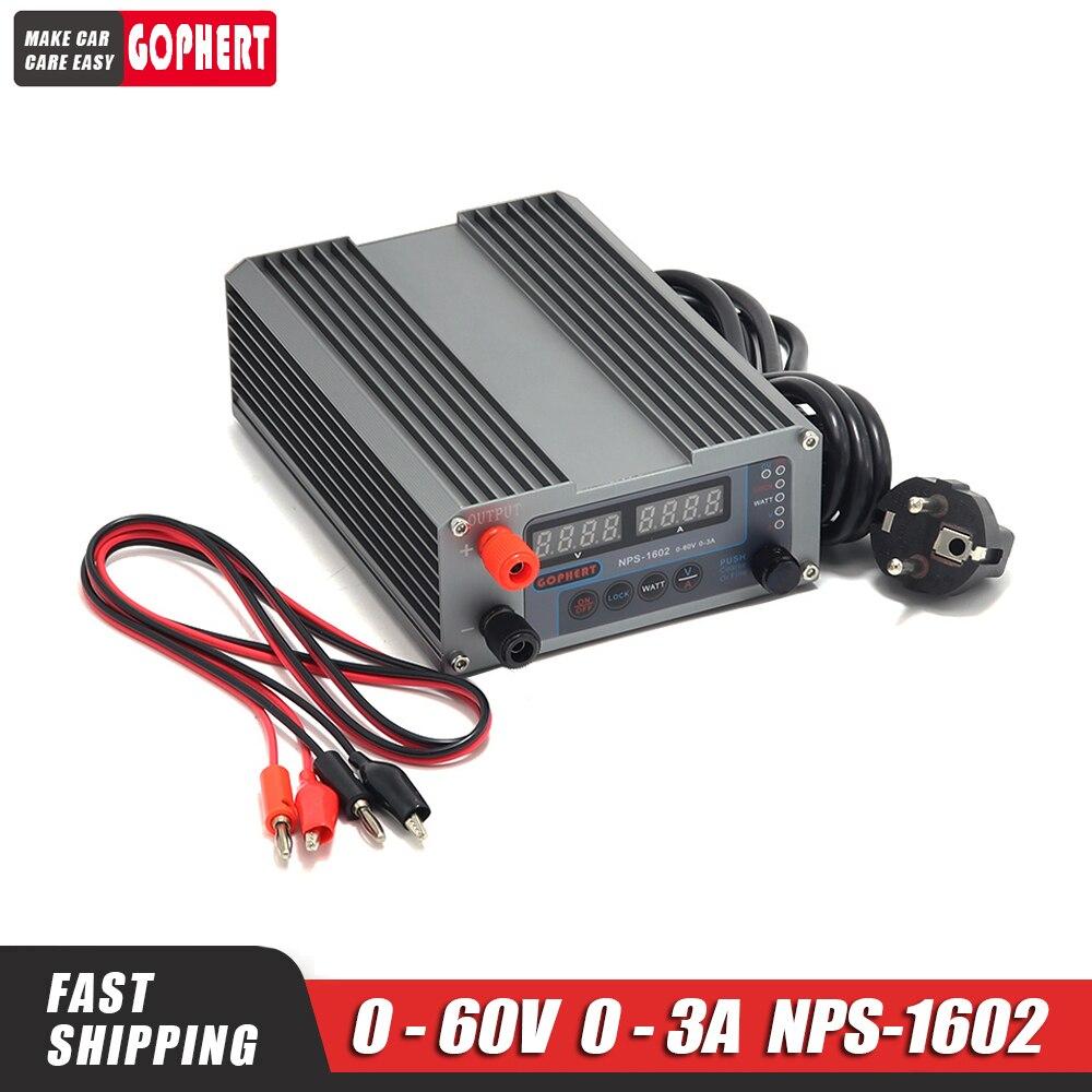DC ينظم امدادات الطاقة NPS-1602 0-60V 0-3A قابل للتعديل امدادات الطاقة الجهد المستمر ثابت إمدادات الطاقة الحالية