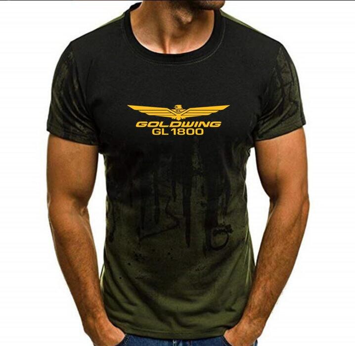 Goldwing GL1800 camuflaje camiseta Tops de manga corta de algodón para hombre motocicleta Goldwing camiseta para hombre Camiseta