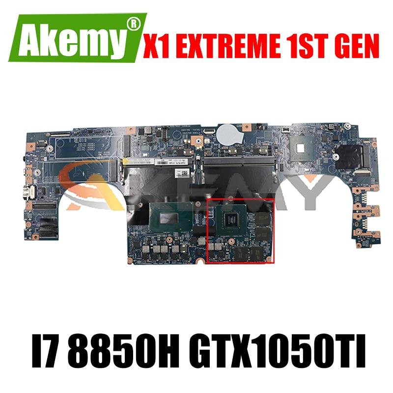 لوحة أم للكمبيوتر المحمول X1 Extreme 1st Gen 17870-1 448.0DY05.0011 CPU i7 8850H GPU GTX1050TI FRU 01YU951 01YU959