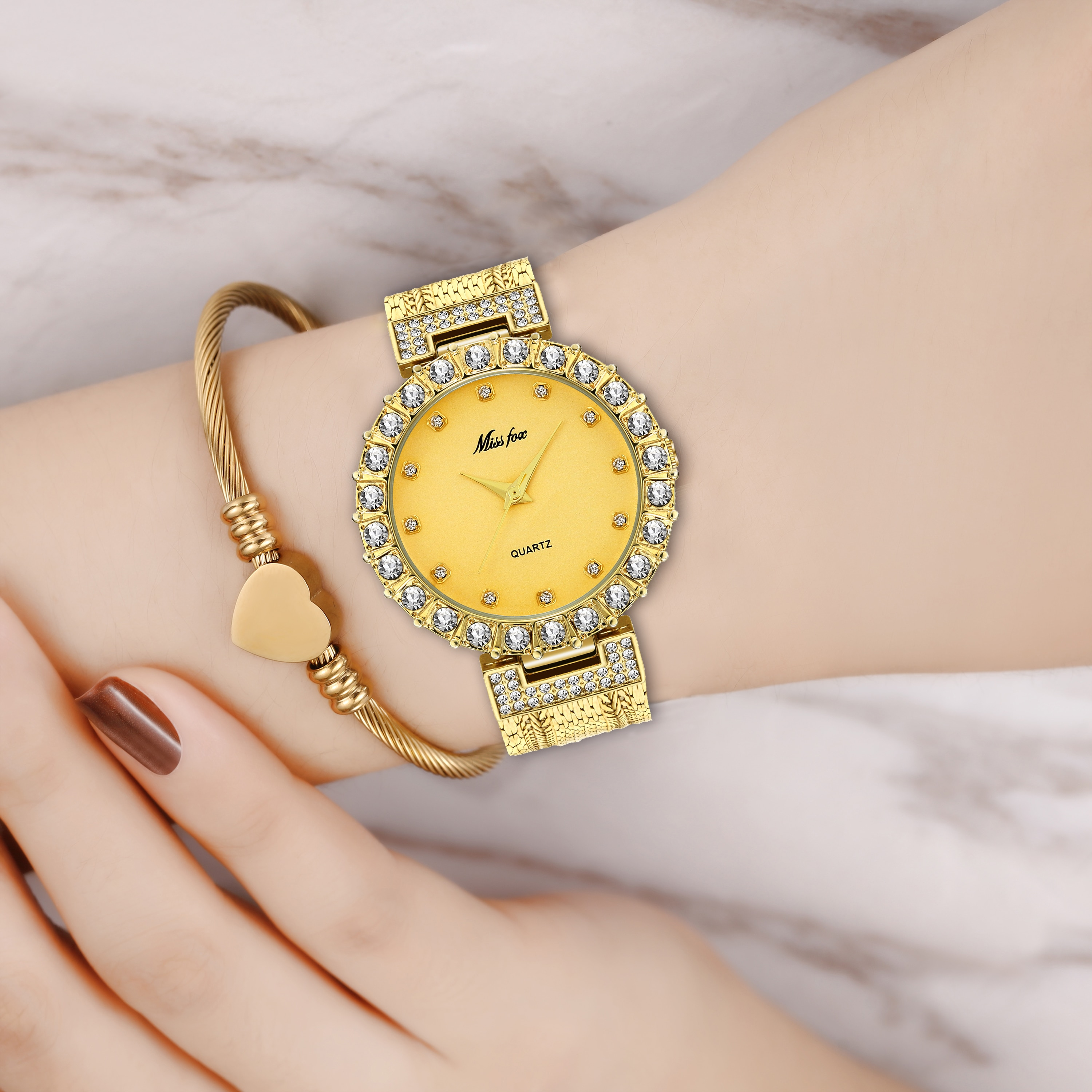 MISSFOX Watch Woman Famous Brand Jewelry Gold Elegant Popular Fashion 2020 Women Watches Waterproof Trending Products Top Women enlarge