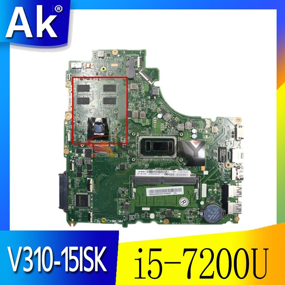 اللوحة الأم لينوفو V310-15ISK V310-15IKB V510-15IKB اللوحة المحمول DA0LV6MB6F0 مع وحدة المعالجة المركزية i5 7200U RAM 4G GPU 2G 100% اختبار
