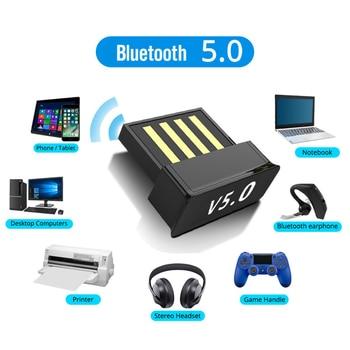 Adaptateurs Bluetooth USB BT 5.0, adaptateur d'ordinateur sans fil, transmetteur Audio, dongle, écouteurs, Mini expéditeur
