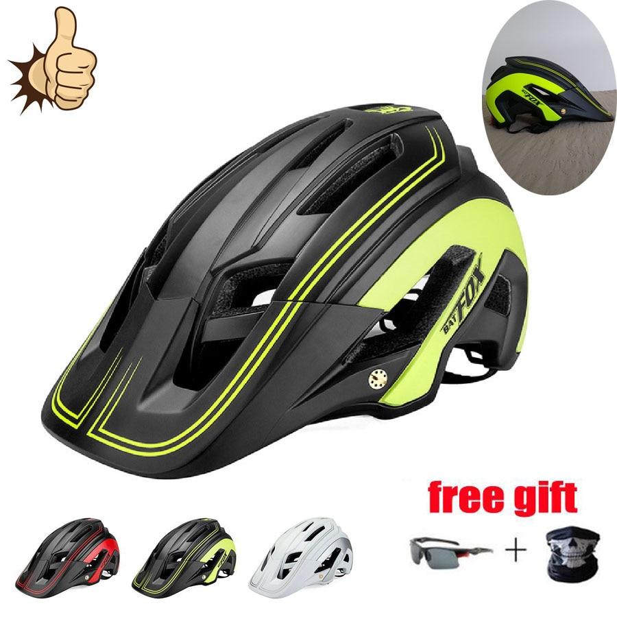Batfox-Casco ultraligero para Ciclismo, Casco deportivo para Bicicleta De montaña o De...