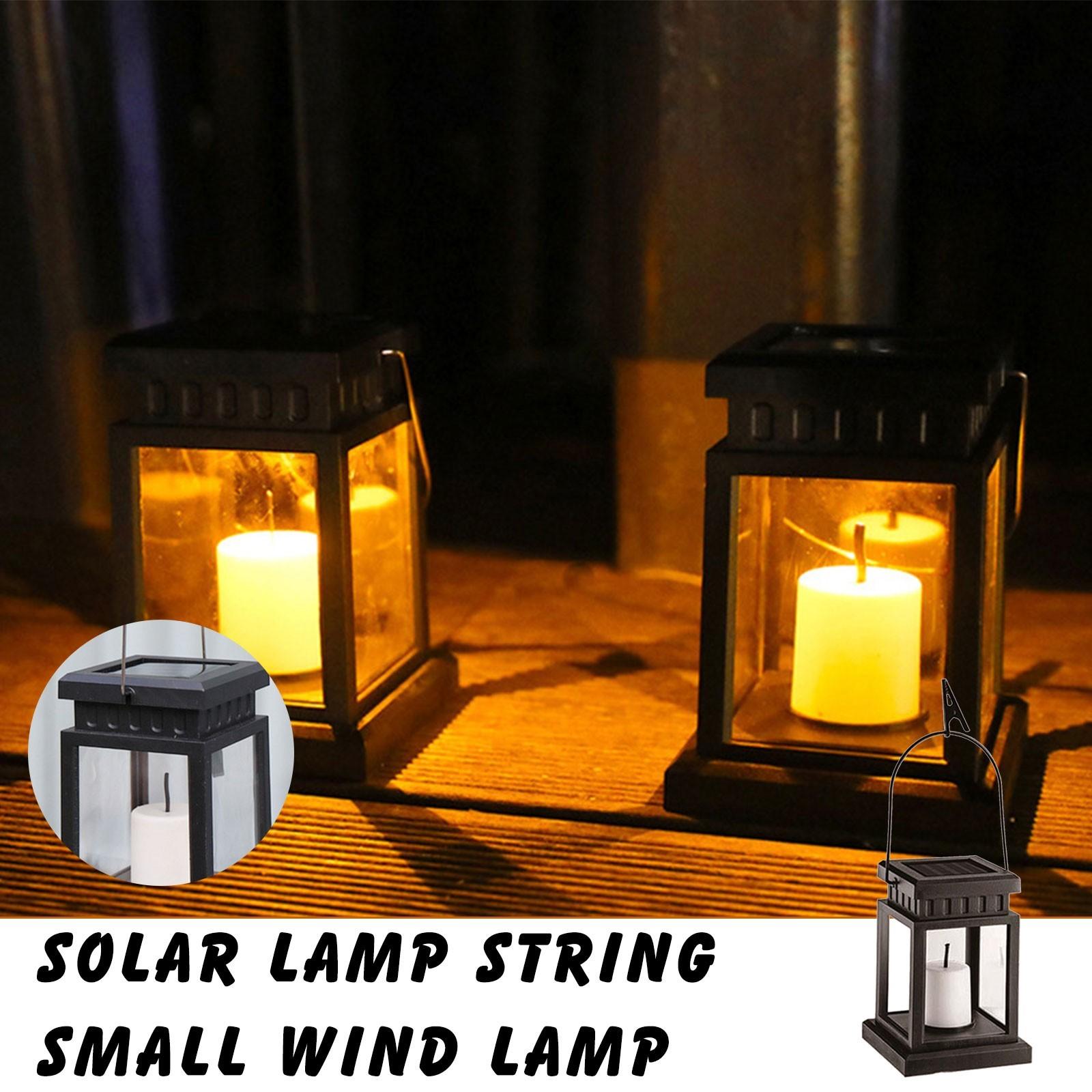 Antique Solar Portable Lantern Garden Decor Landscape Light With Iron Clip Holiday Party Courtyard Balcony Atmosphere Light#W
