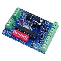 6ch dmx512 decoder 6 channel rgb led controller dc5v 24v 6ch4a 24a max dmx decoder dimmer cmos drain open output ws dmx 6ch ba