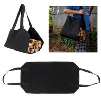 canvas firewood wood carrier bag log camping outdoor holder carry storage bag