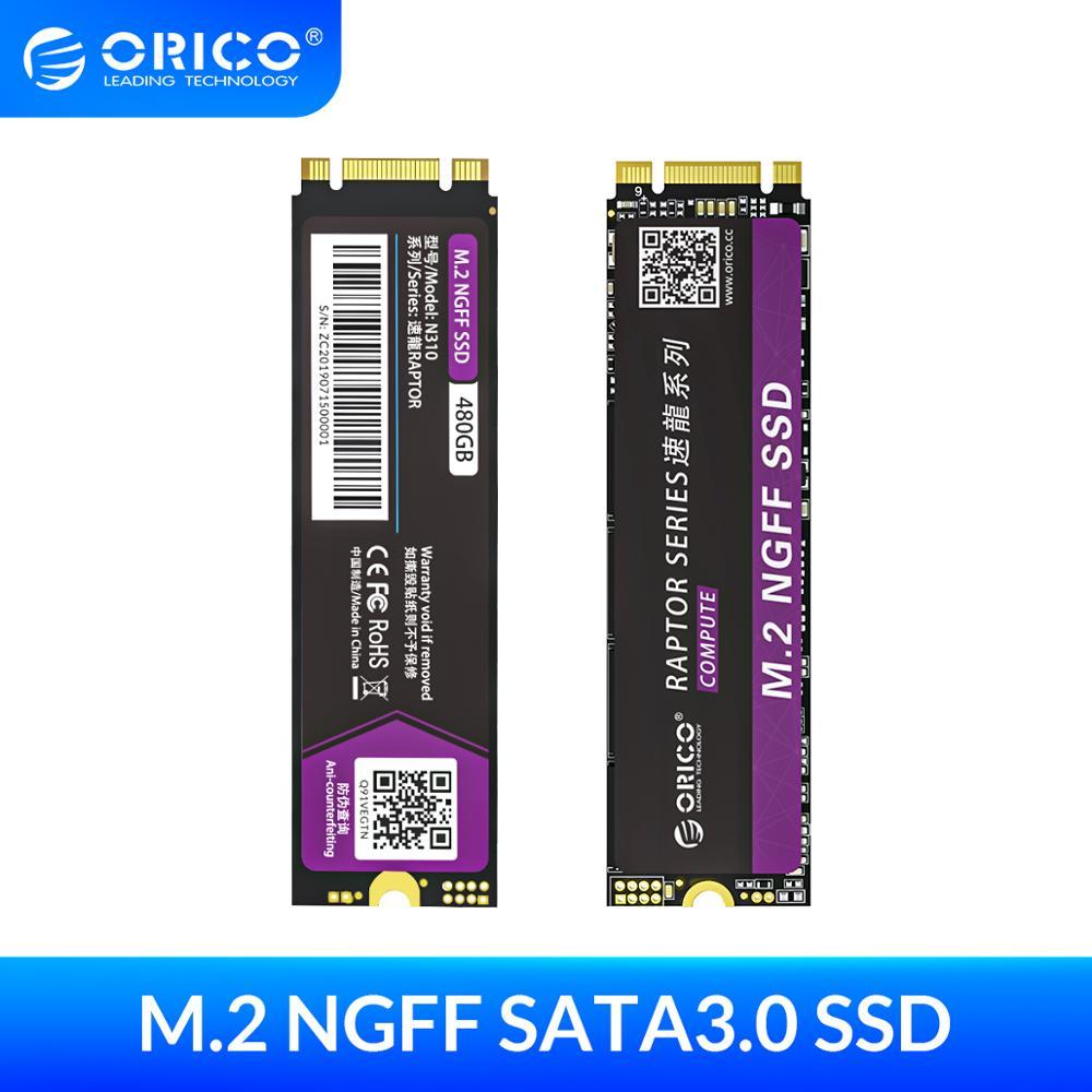 ORICO M.2 NGFF SATA SSD 120GB 240GB 480GB 960GB M2 SATA3.0 محرك أقراص صلب داخلي الحالة الصلبة 2280 مللي متر لمستخدم الألعاب الكمبيوتر المحمول المكتبي
