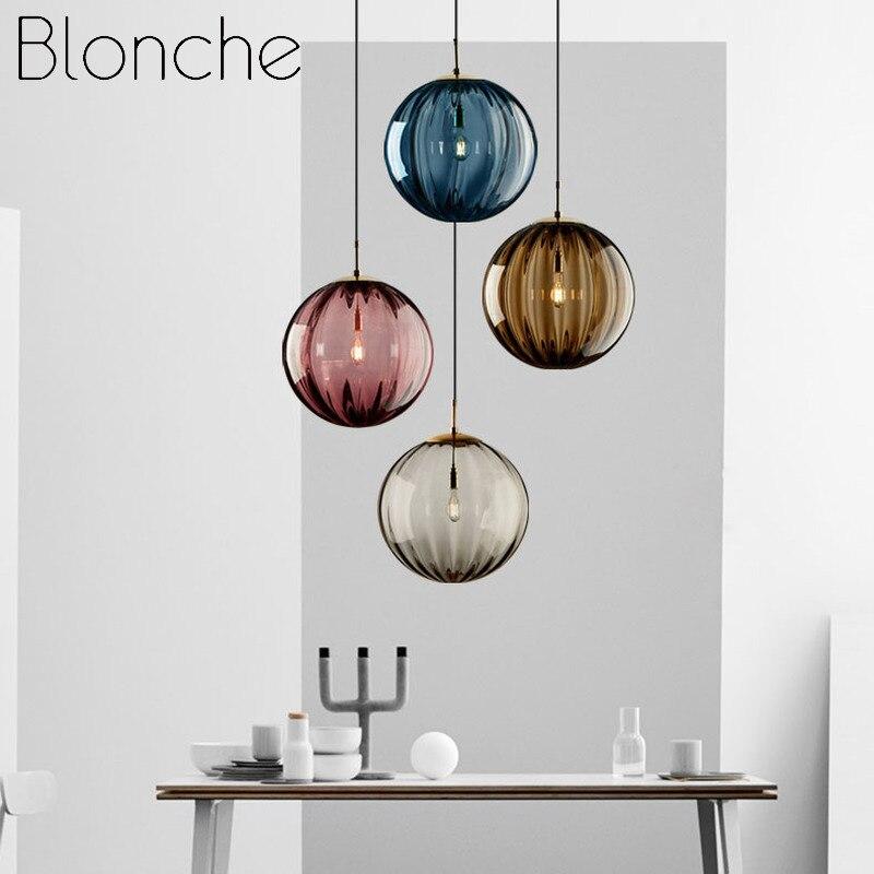 Moderno led pendurado lâmpada onda bola de vidro luzes pingente loft luminárias casa quarto cozinha sala estar decoração luminária luzes