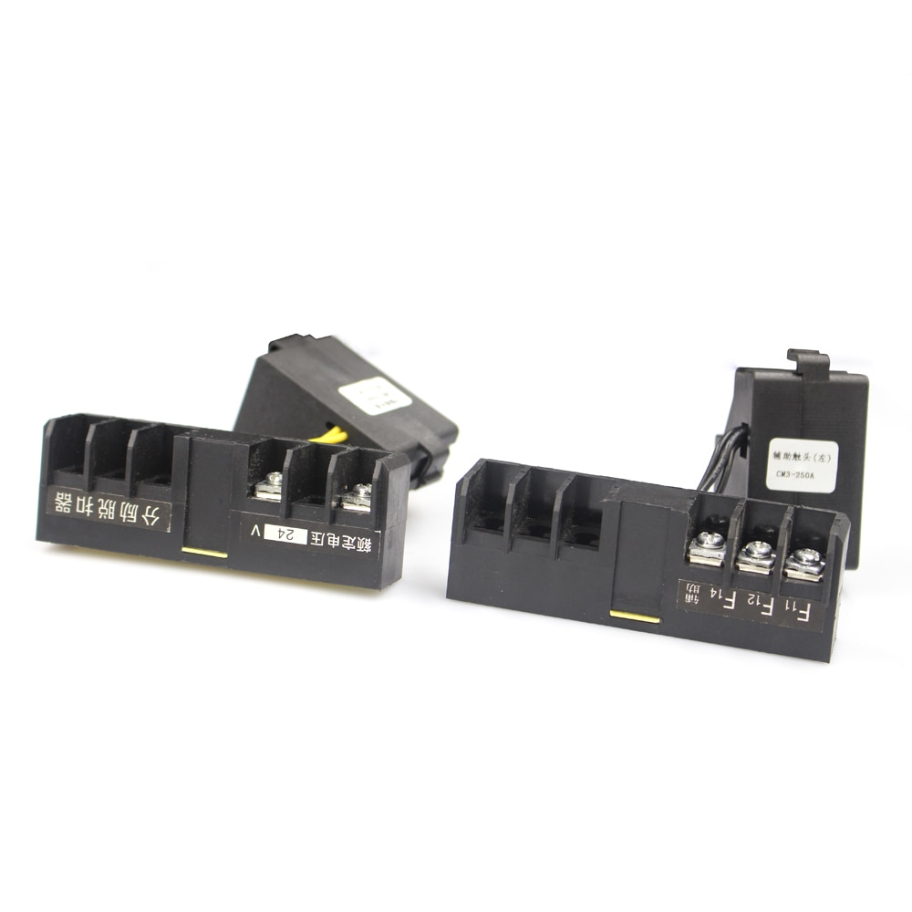 3P 16-125A molded Case electric Circuit Breaker MCCB with module box already installed both shunt release and auxiliary contact