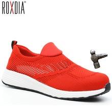 ROXDIA marque été léger embout en acier hommes femmes travail et bottes de sécurité respirant mâle femme chaussures grande taille 36-46 RXM120