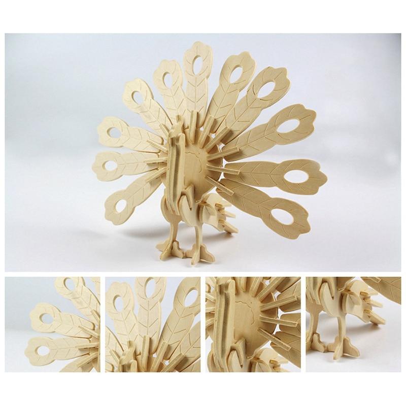 Новый 3D деревянные головоломки дерево ремесло комплект детской одежды игрушечной модели