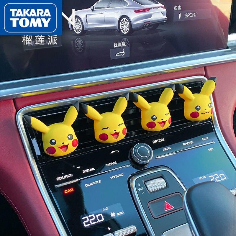 Автомобильный зажим TAKARA TOMY Pokemon для кондиционирования воздуха, украшение интерьера автомобиля