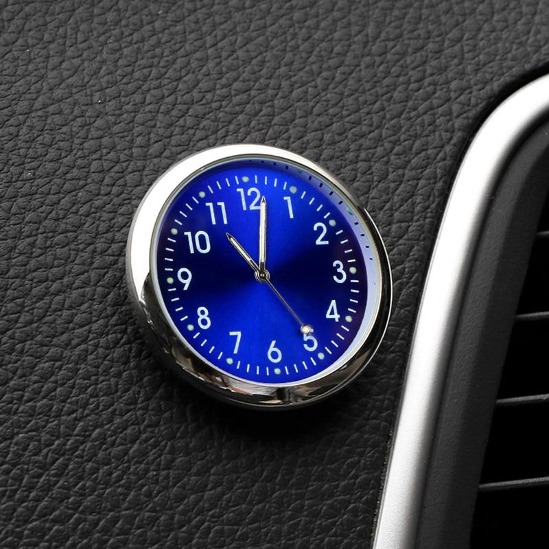 Universal Car Clock Stick-On Auto Decoration for Kia Sportage QL KX5 Mazda CX-5 Hyundai Tucson Audi Q2 Seat Ateca Fiat 500 VW