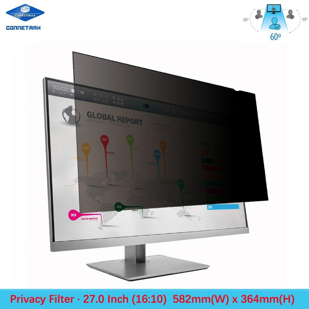 واقي شاشة بفلتر الخصوصية مقاس 27 بوصة لشاشات LCD لسطح المكتب عريضة (16:10)