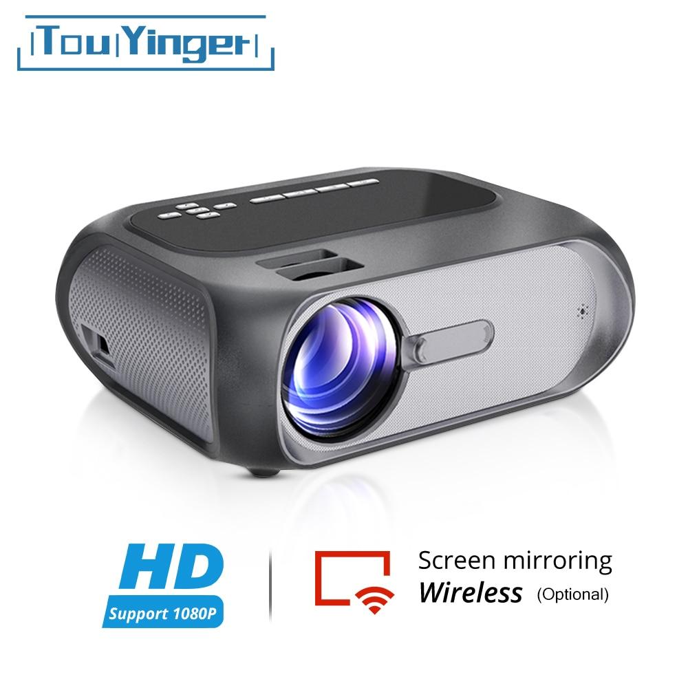 Touyinger T8 مصغرة جهاز عرض (بروجكتور) ليد HD 720P الفيديو العلامة التجارية متعاطي المخدرات ، Miracast البث DLNA لاسلكية عرض wifi اختياري السينما المنزلية
