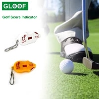 1pcs mini golf score indicator scoring device with key chain golf mouse shape scorer