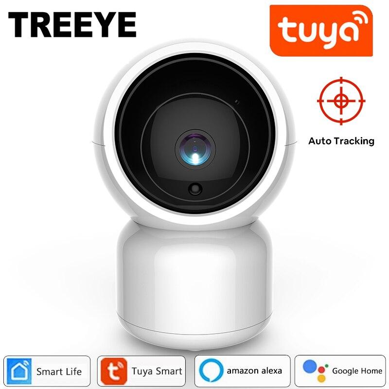 Treeye Tuya Smart Life 1080P IP Camera 2MP Wireless WiFi Security Surveillance CCTV Alexa Google Home Assistant Baby Monitor