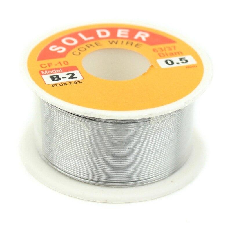 0,3/0,4/0,5/0,6/0,8/1,0 MM 63/37 FLUX 2.0% 45FT estaño plomo estaño alambre fundir colofonia núcleo soldadura rollo de alambre de soldadura