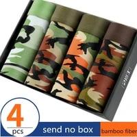 4pcslot panties mens underwear camouflage organic natural cotton model boxers men ventilate plus size l 3xl