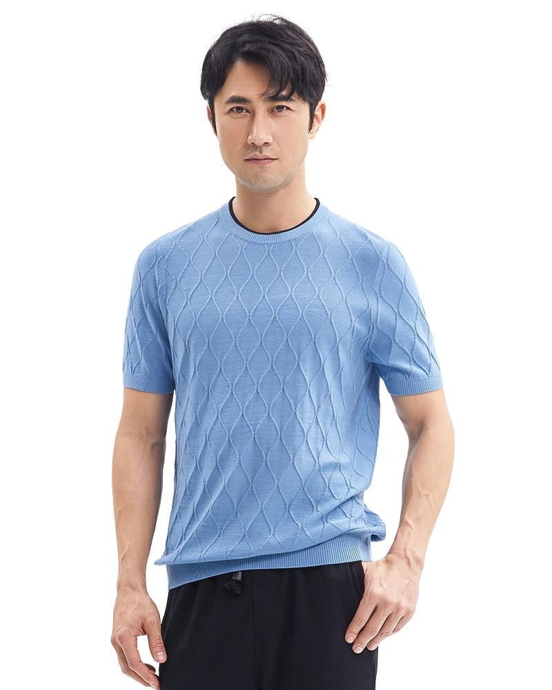 Мужская Трикотажная футболка с коротким рукавом Zhili