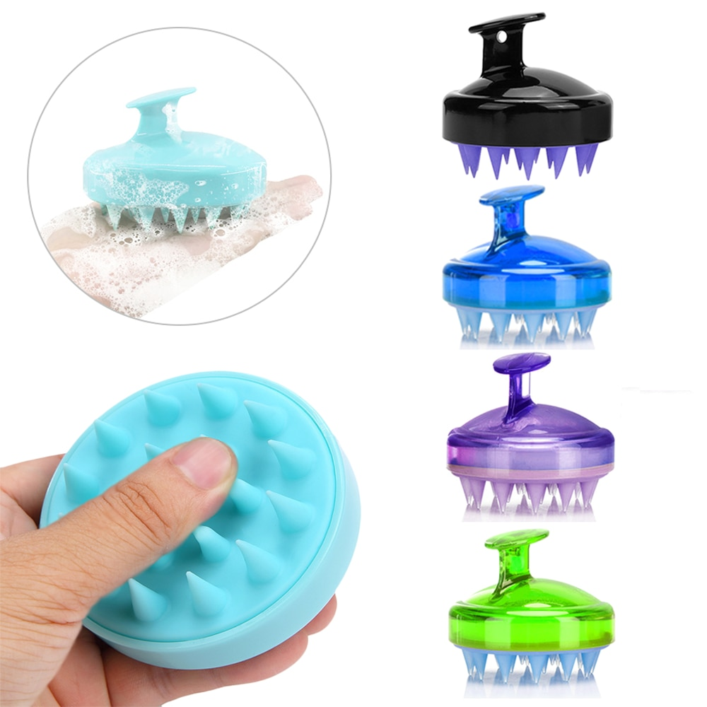 Silicone Head Body Scalp Massage Brush Care Tool Comb Shampoo Hair Washing Comb Shower Brush Bath Sp