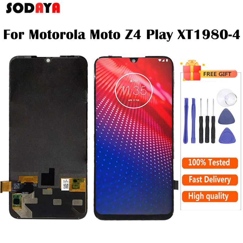 Nuevo para Motorola Moto Z4 Play pantalla LCD MONTAJE DE digitalizador con pantalla táctil Pantalla de repuesto para Moto Z4 pantalla LCD