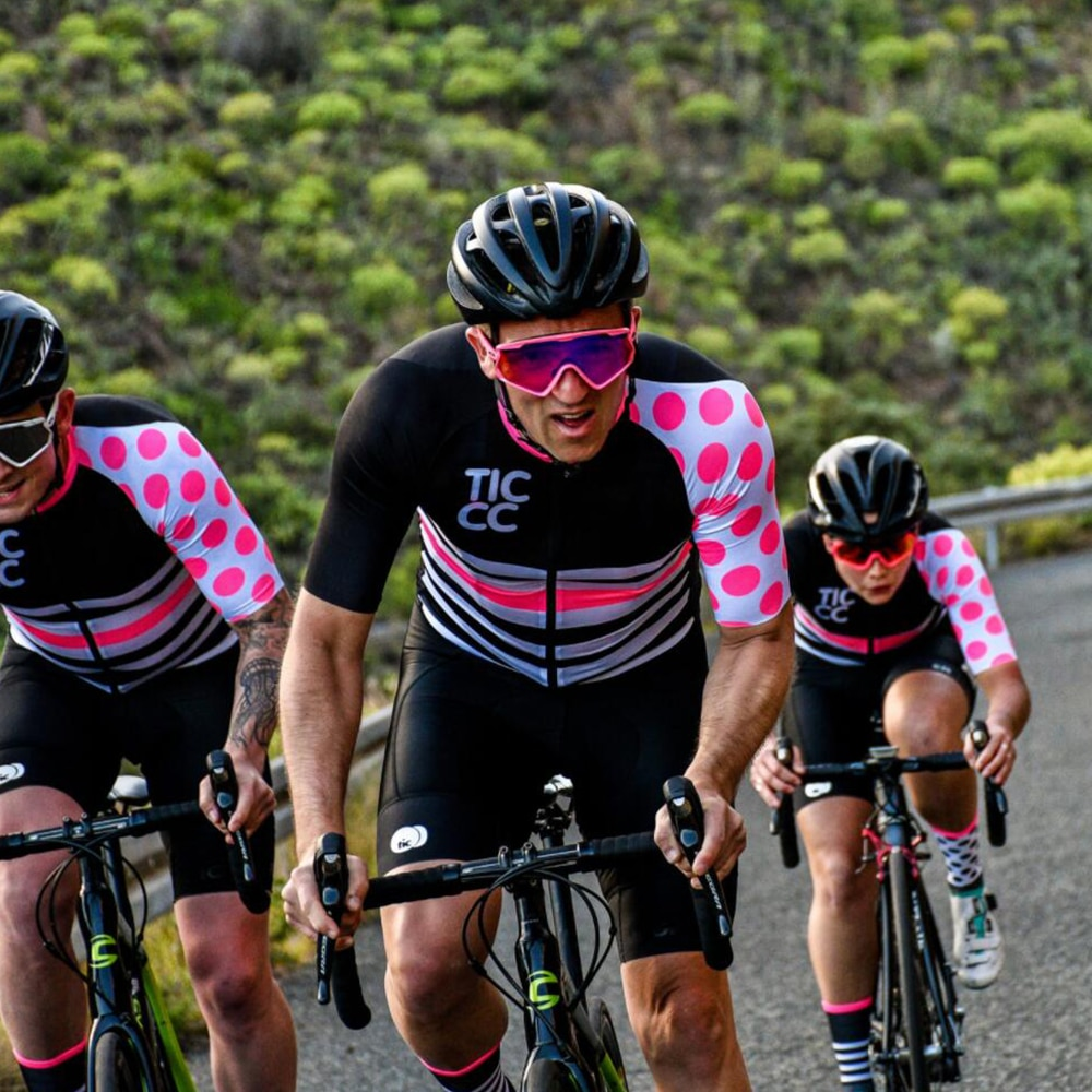 TICCC hommes cyclisme Maillot à manches courtes vélo chemises Maillot vtt vélo de route Maillot respirant cyclisme hauts été Pro vélo Jersey