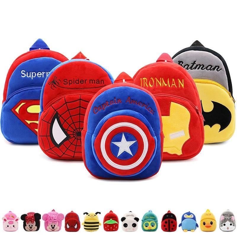 Disney Cute Baby School Bag Marvel Cartoon Mini Plush Backpack For Kindergarten Kids Boys Girls Gift