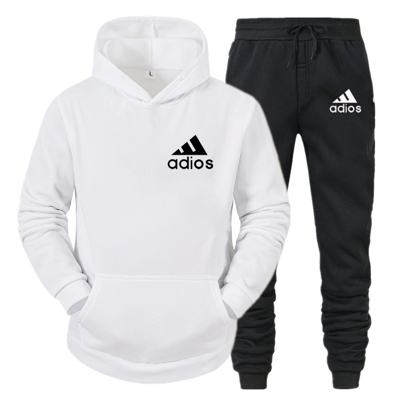 2021 Winter The New Men Clothing Sets Tracksuit 2 Piece Sets Hoodies+Pants Men's Sports Suit 2020 Brand Sportswear