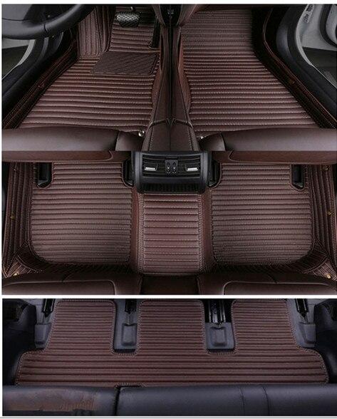 Set completo personalizado de alfombrillas de coche + alfombrilla de maletero para Lexus LX 570 7 asientos 2020 alfombras impermeables para LX570 2019-2007, envío gratis