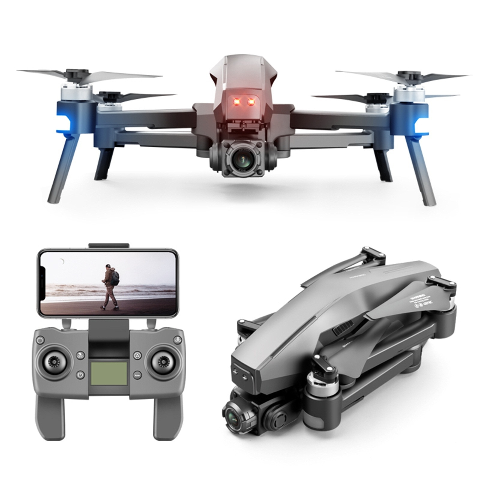 5G Profession RCDrone 4D M1 Pro Gimbal Professional 4K HD Camera Brushless Motor GPS Wifi Fpv Electric Induction Drones Toys