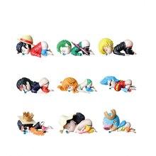 One Piece Anime Zahlen Ruffy Lysop Nami Robin Zoro Chopper Sanji Brook Franky Sleepy Cute Spielzeug für Kinder Action Figur modell