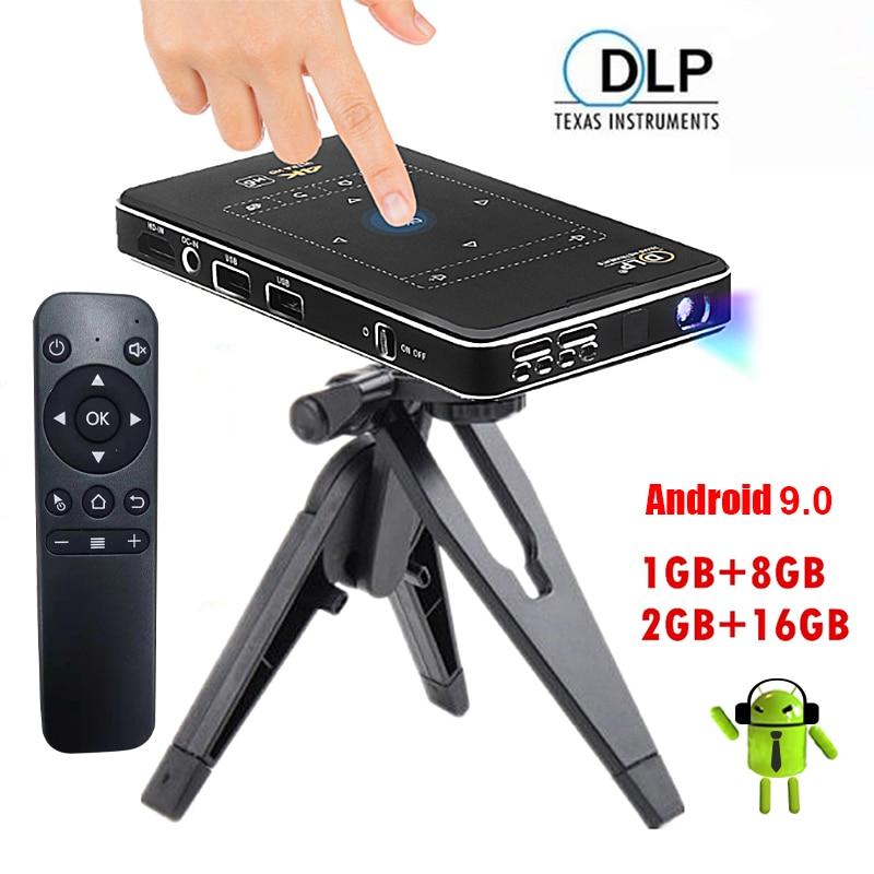 جهاز عرض 4K صغير واي فاي أندرويد العارض كامل HD 1080P LED سينما الفيديو للمنزل متعاطي المخدرات PR47004