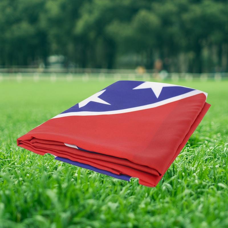 Bandeira durável do mississippi dos lados dobro handheld da bandeira com bandeira handheld da vara