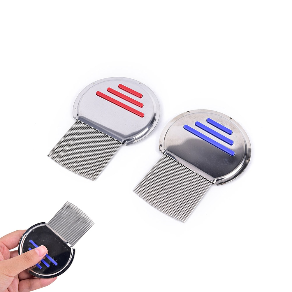 Venda quente 1 pc útil piolhos pente nit livre crianças cabelo livrar headlice aço metal dentes remover lêndeas