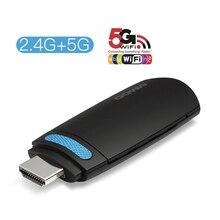 Ggmm Mini Tv Stick Android Hdmi Dongle Hd 1080P Draadloze Wifi Dongle Display Miracast 5G Hoge Snelheid Airplay dlna Voor Youtube Ios
