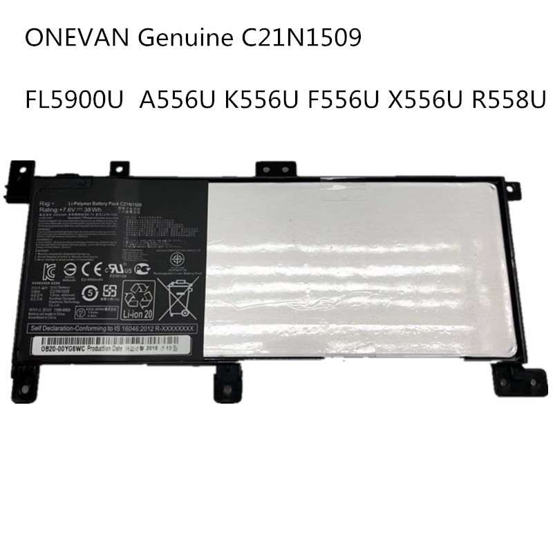 Nuevo 7,6 V C21N1509 batería para portátil X556UA X556UB X556UF X556UJ X556UQ X556UR X556UV A556U FL5900U