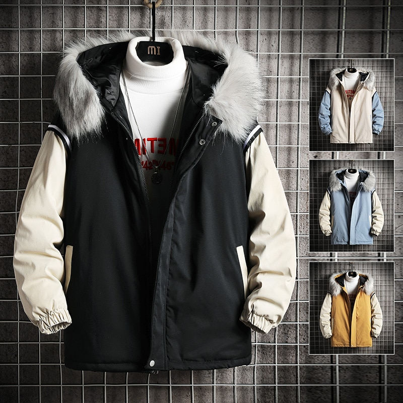 Ruppshch harajuku colorido bolha casaco jaqueta de inverno 2021 dos homens streetwear hip hop parka roupas pretas casacos puffer