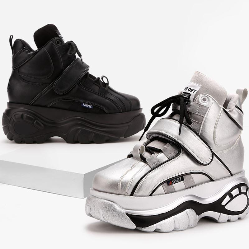 Women's sports leisure shoes Korean version Joker 2021 autumn new sponge cake thick bottom increased