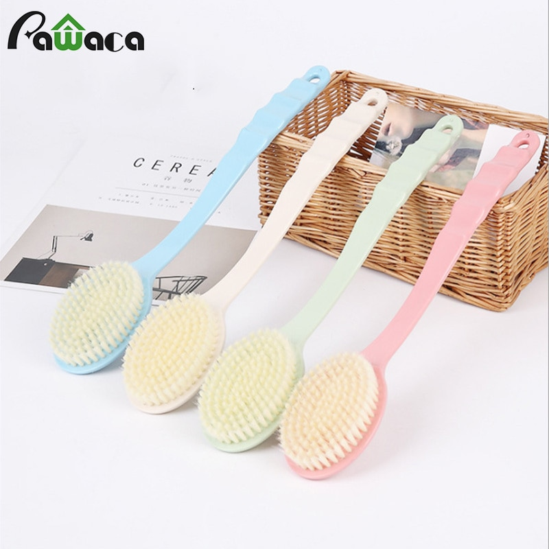 Long Handled Bath Shower Body Massage Brush Back SPA Brush Scrubber Skin Cleaning Brushes for Bathro