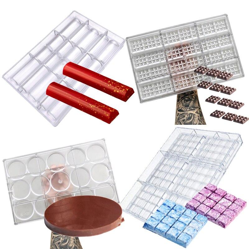 Molde plástico do bakeware do molde do bakeware da bandeja do policarbonato dos moldes da barra do chocolate 3d