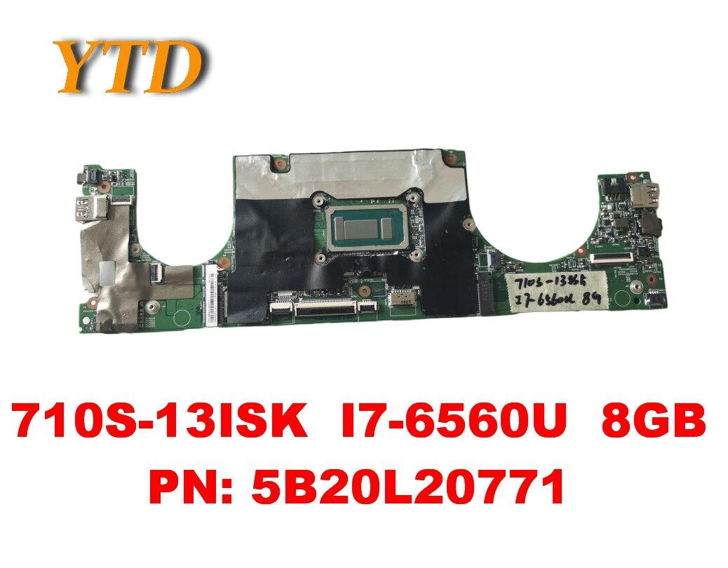 الأصلي لينوفو Ideapad 710S-13ISK اللوحة المحمول 710S-13ISK I7-6560U 8GB PN 5B20L20771 اختبار جيد شحن مجاني